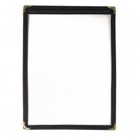 E290 - Menumap geschikt voor twee kaarten A5 zwart 2 bladzijden