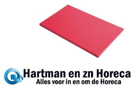 GN331 - Gastro M GN1/2 HDPE snijplank glad rood