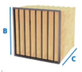 02632 - Synthetisch zakkenfilter, klasse F8 - IFS95 - B288 X H592 X D600 - 4 ZAKKEN