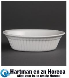 C110 -Olympia Whiteware ovale taartschaal 17cm