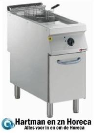 "E22/F15A4-N - Elektrische friteuse 1 kuip ""Y"" 15 liter, buitenkant branders, op meubel DIAMOND"