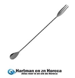 DR -636 - Olympia cocktaillepel met vork zwart