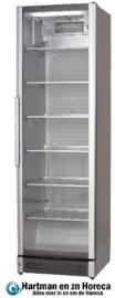 477800200 - Koelkast met glazen deur in aluminium frame, geschikt voor inbouw  NORDCAP M 210
