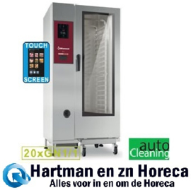 "SDET/XC-20 - Combi-steamer electrische oven ""TOUCH"" 20x GN 1/1+ Cleaning DIAMOND"