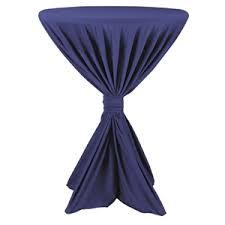 H863 - Sta tafelrok Fiësta blauw diameter tot 100 cm