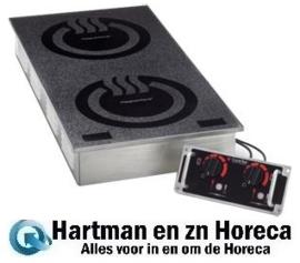 53000601900 - CookTek Heritage dubbele inductie kookplaat FbB, MCD2502F COOKTEK