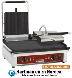 CONTACTDG2/SS - Contact-grill DUBBEL, geëmailleerde platen DIAMOND