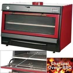 CBQ-120 -  Houtskooloven-BBQ, GN 2/1 + GN1/1 (150 Kg/h)