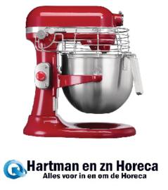 CB576 -KitchenAid professionele mixer 6,9ltr Vermogen: 325W/230V. Kleur: rood.