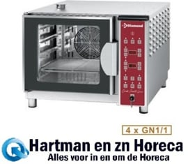 DFV-411/SD - Combisteamer elektrische oven 4x GN 1/1 DIAMOND
