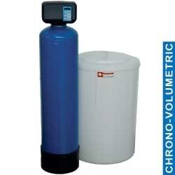 ADD-50/CV-2 - Waterontharder Chrono - en volumemeter, 50L., met uitwendige fles