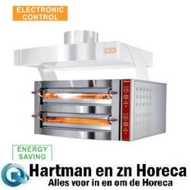 GDX12/35-LDP-(230/3) - Elektrische pizza oven, 2 kamers, 2x 6 pizza's Ø 350 mm DIAMOND