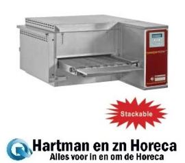 FTEV 40/58-N - Elektrische pizza band tunnel-oven geventileerd, breedte 400 mm DIAMOND