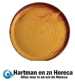 FA310 -Olympia Canvas ronde borden met smalle rand roestoranje 26,5cm -6stuks