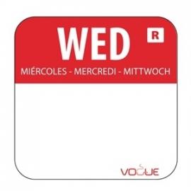 L933 - Kleurcode sticker woensdag/rood