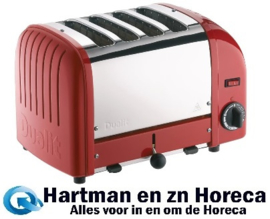 GD394 - Dualit Vario broodrooster 4 sleuven rood 40353