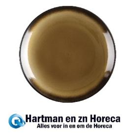 CS299 - Olympia Nomi ronde tapascoupeborden geel-zwart 19,8cm