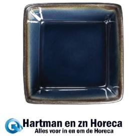 HC337 -Olympia Nomi vierkante tapaskommen blauw-zwart 11 x 11cm