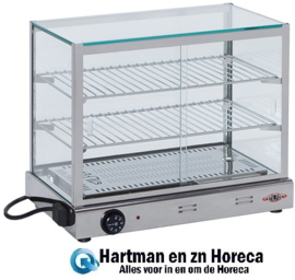 527318 - Stilfer warmhoudvitrine - 420x520x330 mm (bxdxh)