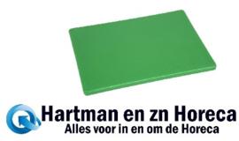 J253 - Hygiplas snijplanken economy groen (fruit/groente)