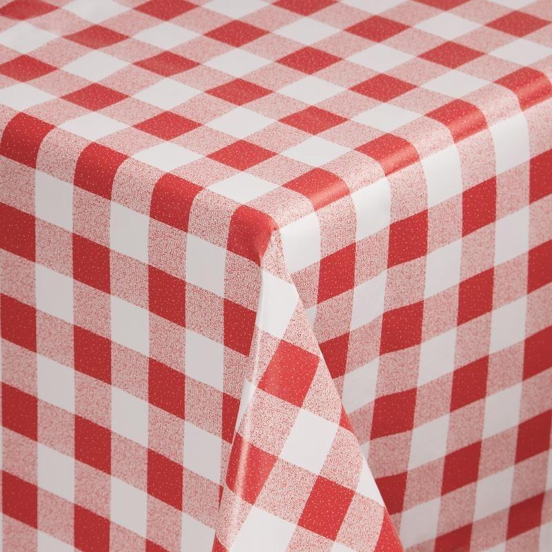 E792 - PVC tafelkleed rood/wit 89x89cm