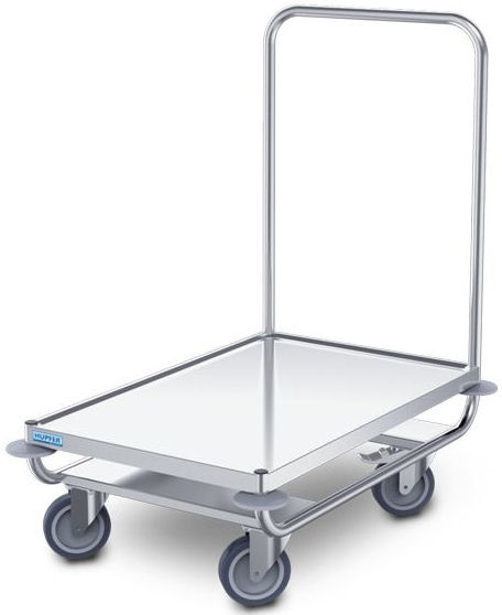0112632 - Platformwagen PW/10x6, roestvrijstaal, waterkeringsprofiel rondom, afm. platform 1000x600 mm (bxd), draagvermogen 120 kg, gewicht 15 kg