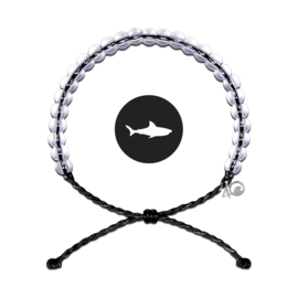 4Ocean armband zwart haai