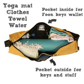 Yoga bag - Ragbag black print