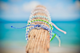 4Ocean armband - blauw en groen