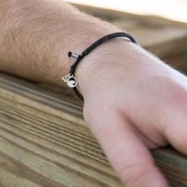 4Ocean armband zwart - gevlochten
