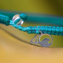 4Ocean bracelet - White sided Dolphine
