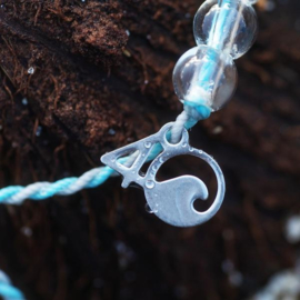 4Ocean armband blauw/grijs - Dolfijn