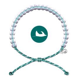 4Ocean armband dubbel groen - Manta Ray