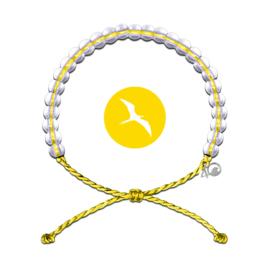 4Ocean armband geel zeevogels