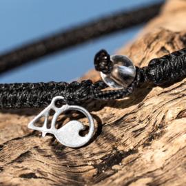 4Ocean Braided black bracelet