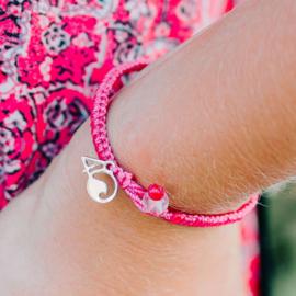 4Ocean bracelet Flamingo - braided