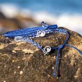 4Ocean armband blauw - gevlochten