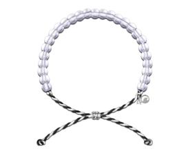4Ocean armband zwart/wit - Orca