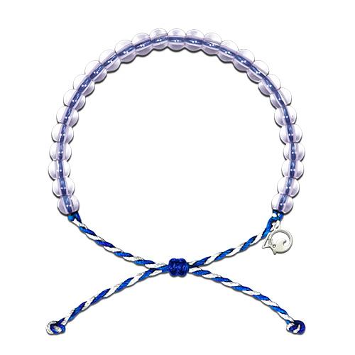 4Ocean armband blauw/wit