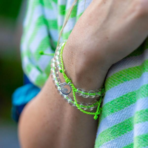 4Ocean zeeschildpad bracelet groen