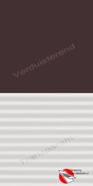 VELUX Combinatie gordijn DFD 4559 Bruin / wit