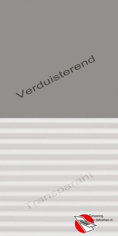 VELUX Combinatie gordijn DFD 0705 Grijs / wit