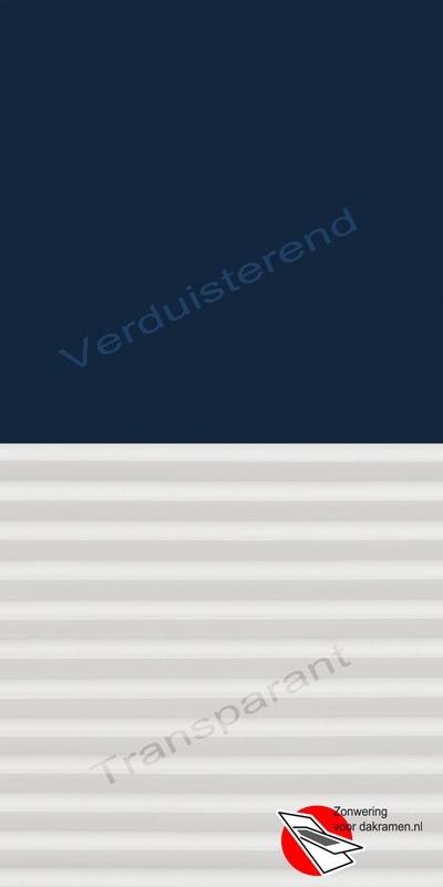 VELUX Combinatie gordijn DFD 1100 Donkerblauw / wit