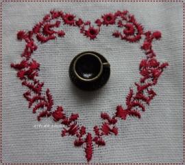 Bedel bronskleurige kop en schotel