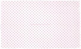 Makower Stofje Wit met roze Stip IX