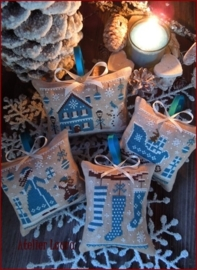 The Little Stitcher Blue Christmas