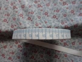 Centimeter band Vintage Blauw