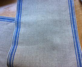 V&H band Naturel-blauwe rand 17 cm