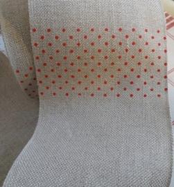 Borduurband Natuur met rode stip 10 cm