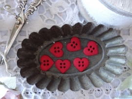 Dress it Up Sew Cute Red Hearts